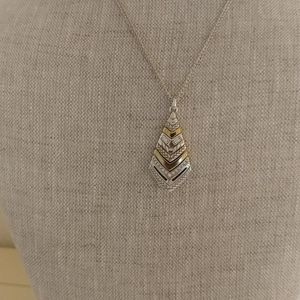 Brighton NWT Tapestry Gold/Silver Necklace